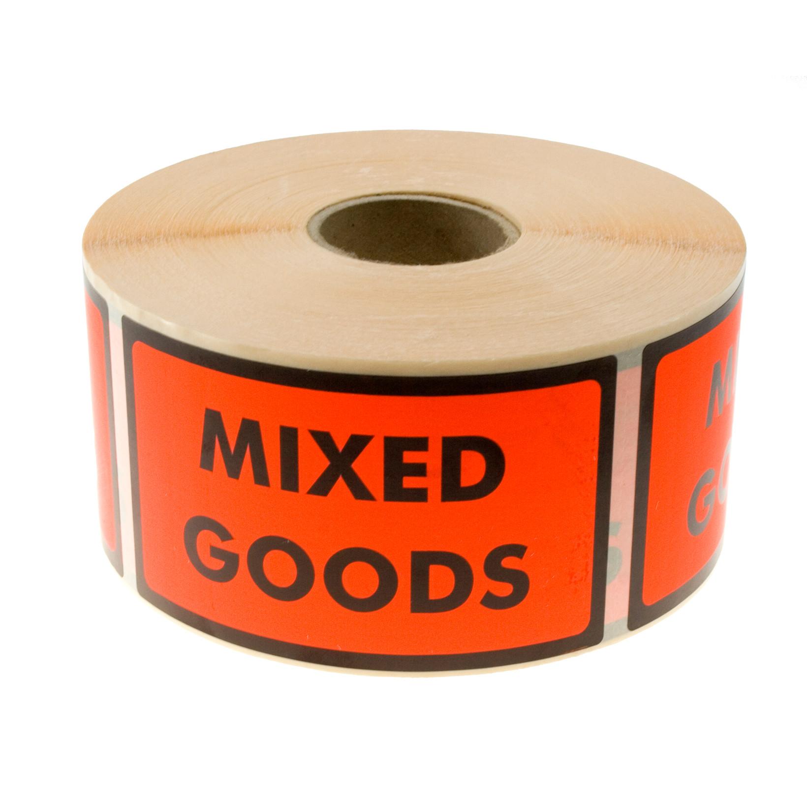Etiketter selvkl. tryk: Mixed goods 120x70mm 1000stk/rul