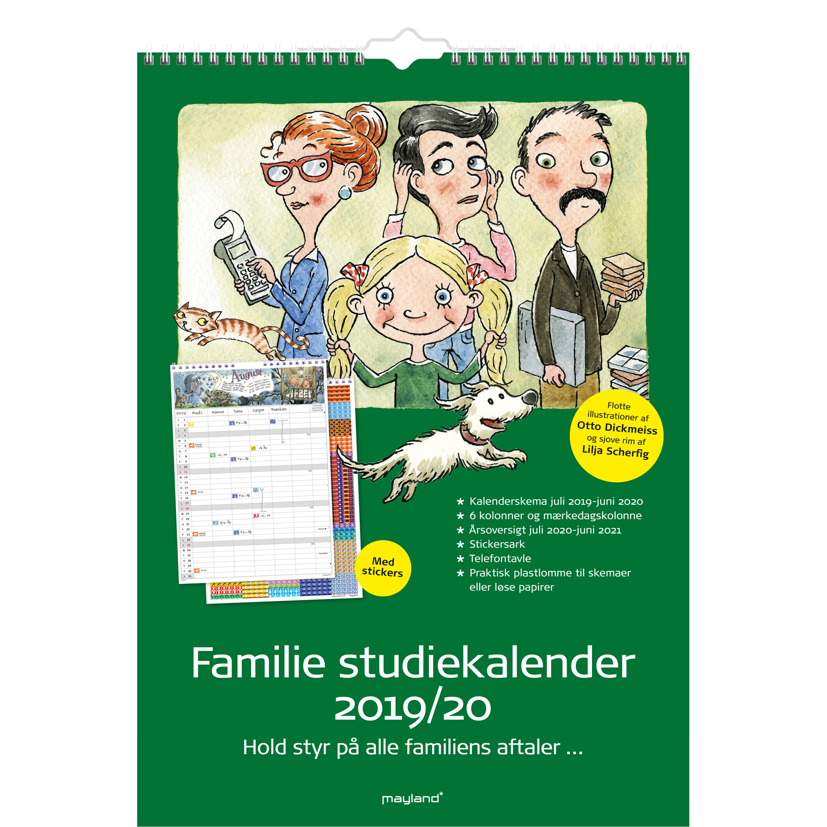 Familiekalender 19/20 30x42cm m/stickers 20 8079 00