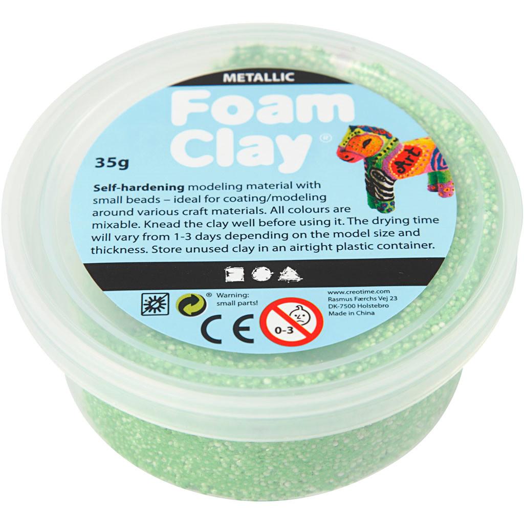 Foam Clay® grøn metallic | 35 gram
