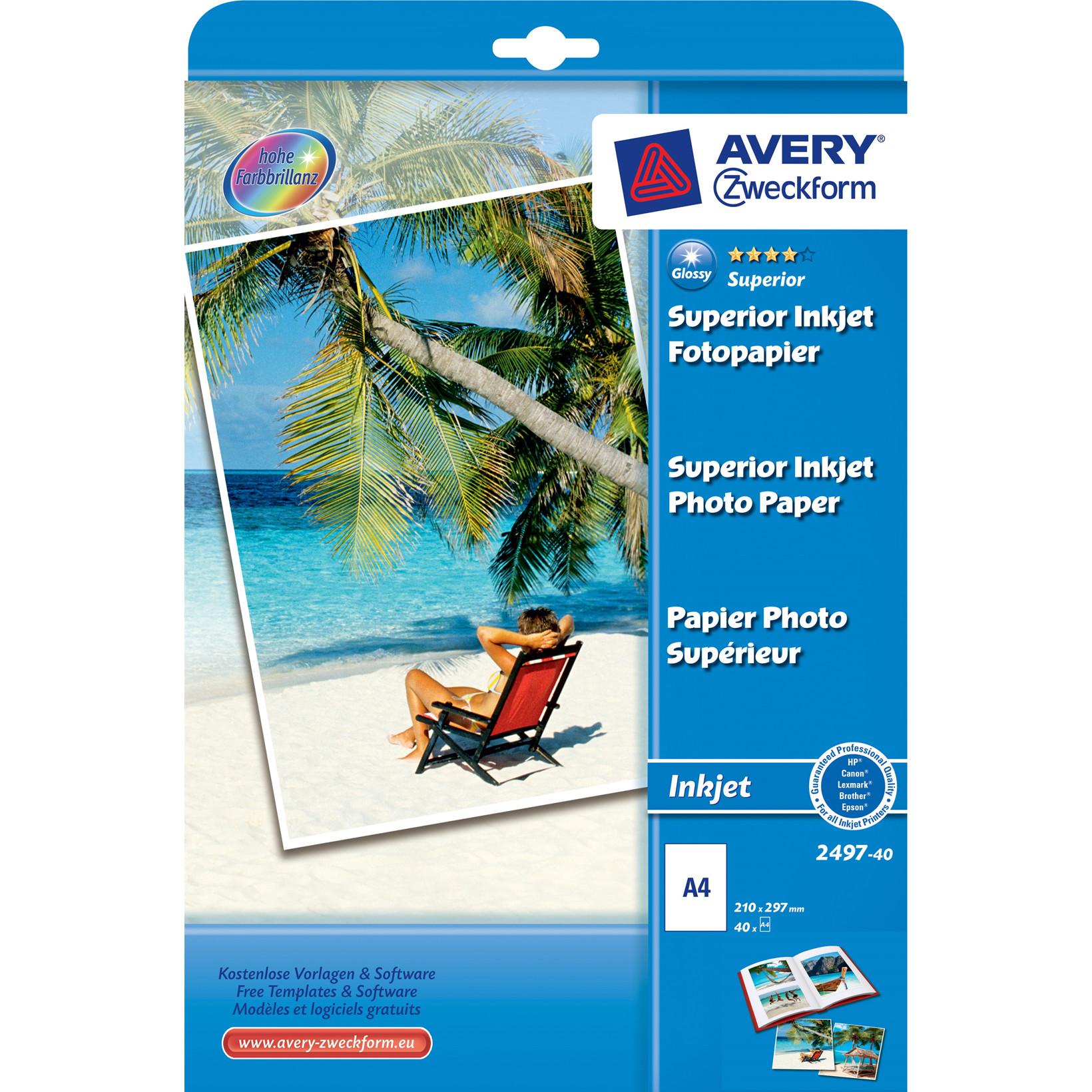 Fotopapir - Premium A4 230 gram glossy til inkjet - 40 ark