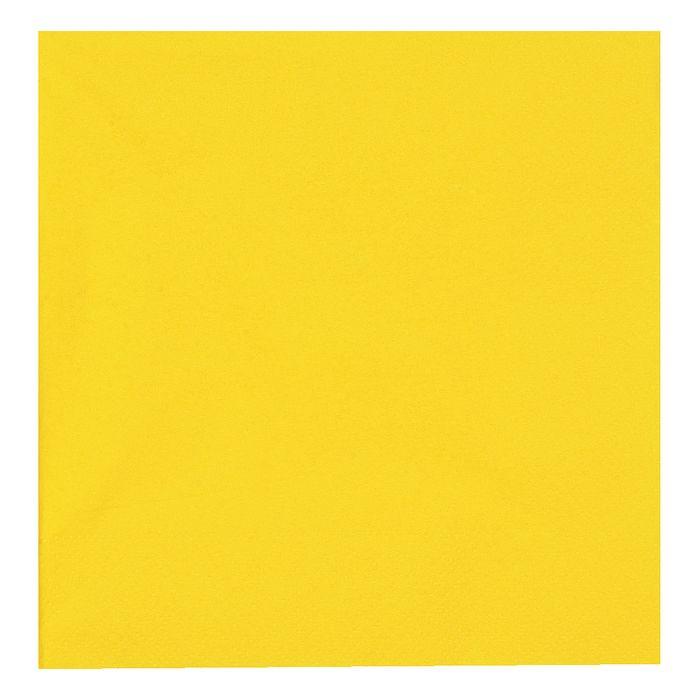 Frokostserviet, Gastro-Line, 3-lags, 1/4 fold, gul, papir, 33cm x 33cm