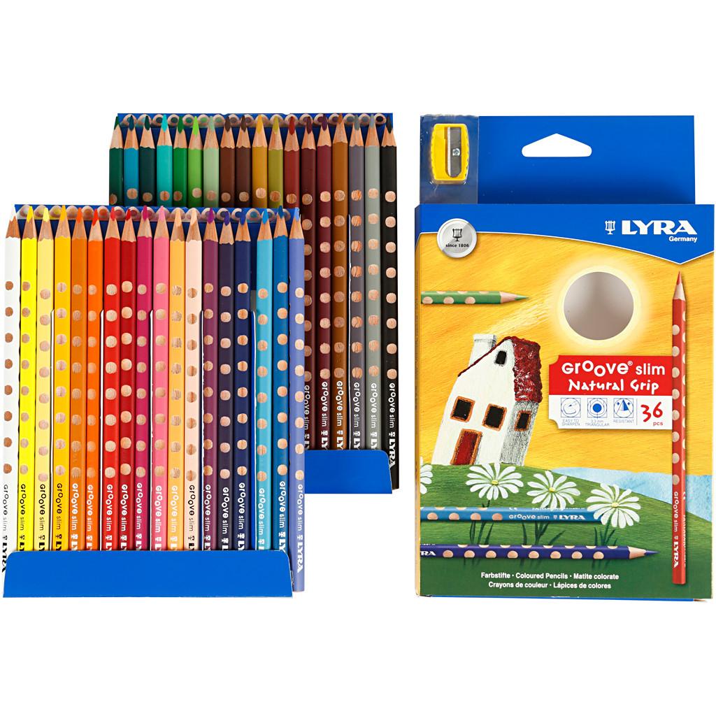 Farveblyanter LYRA Groove Slim - 36 forskellige farver