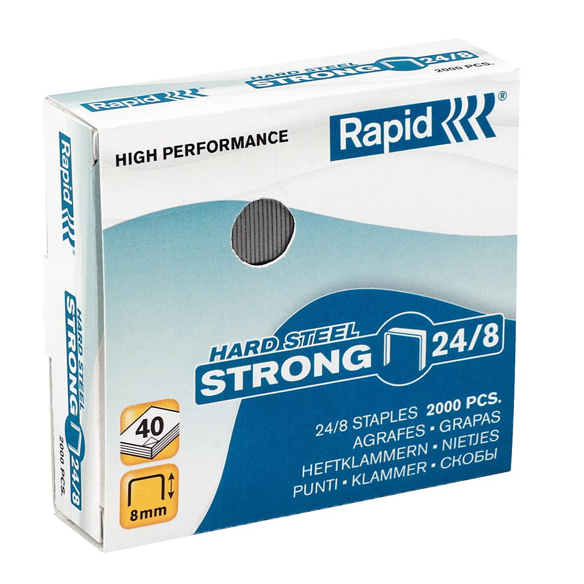 Hæfteklamme kobber Rapid Strong - 24/8 2000 stk i æsken