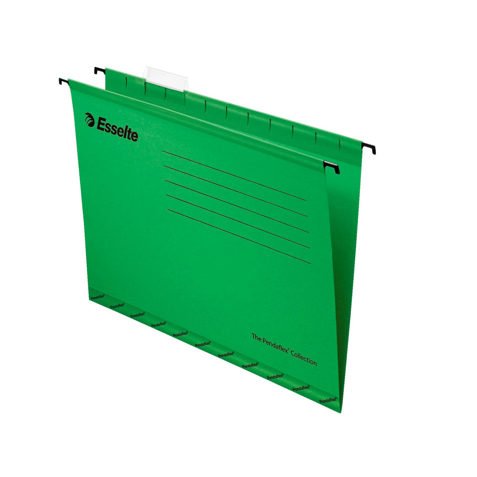 Hængemapper folio grøn - 25 stk i pakke