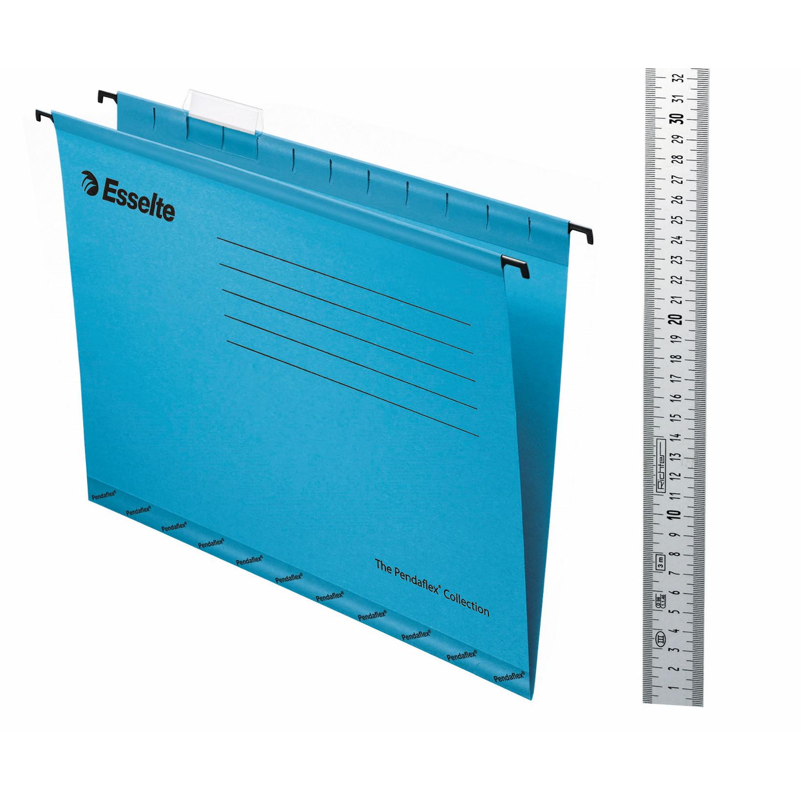 Billige hængemapper A4 Esselte Classic blå - 25 stk. pr pakke