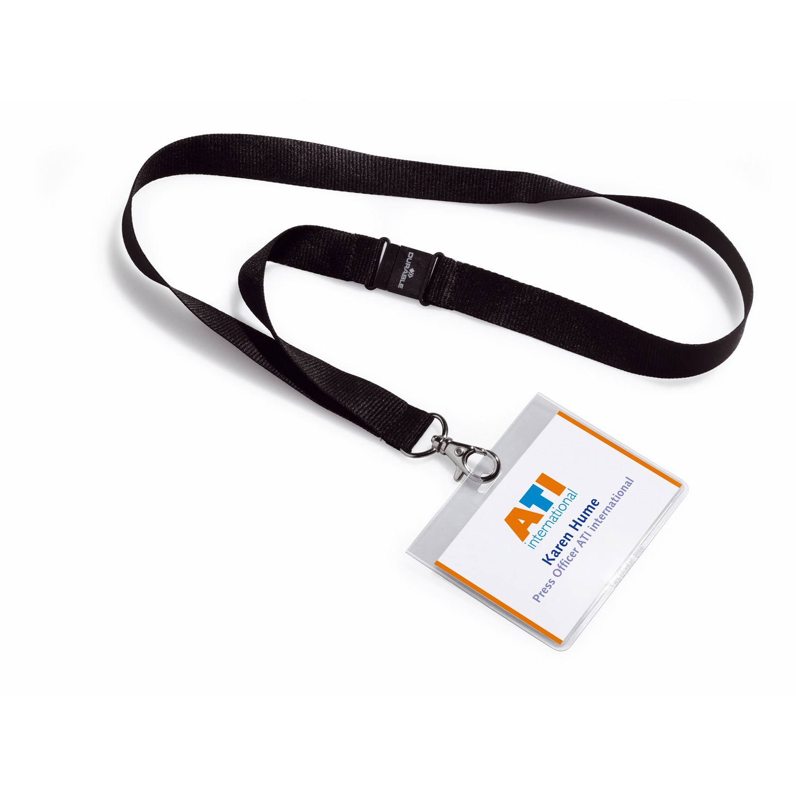 Halsbånd med kortholder - 60 x 90 mm - 5 sæt