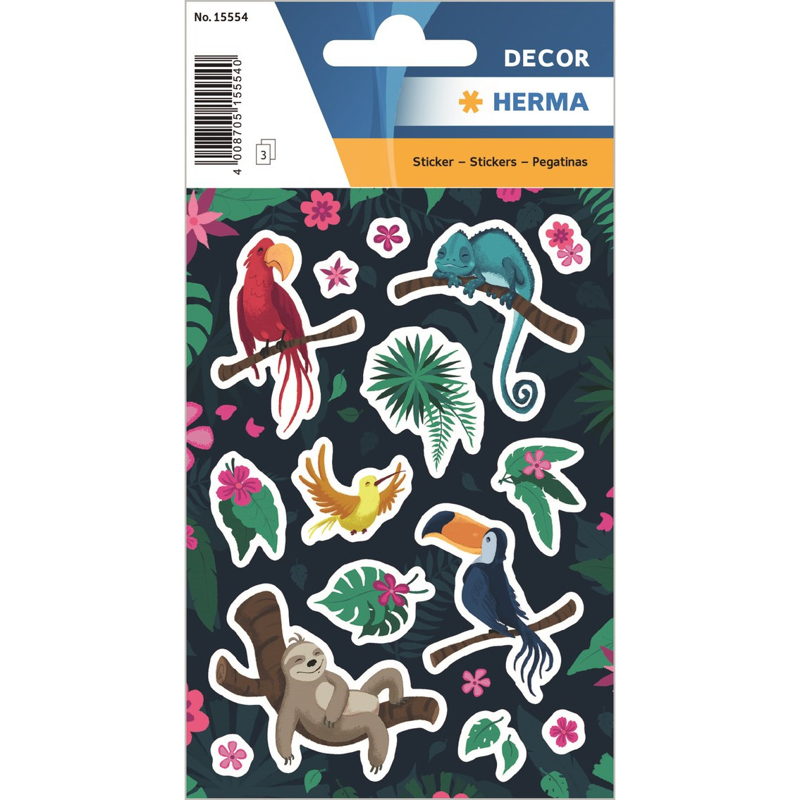HERMA Herma stickers Decor tropiske dyr (3)