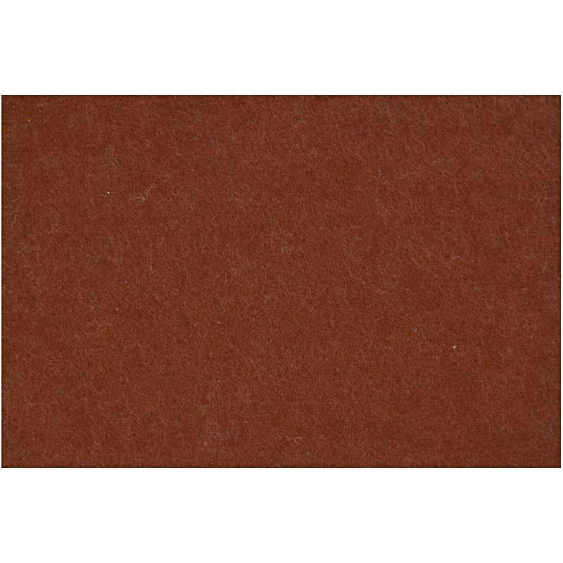 Hobbyfilt ark 42 x 60 cm tykkelse 3 mm   brun
