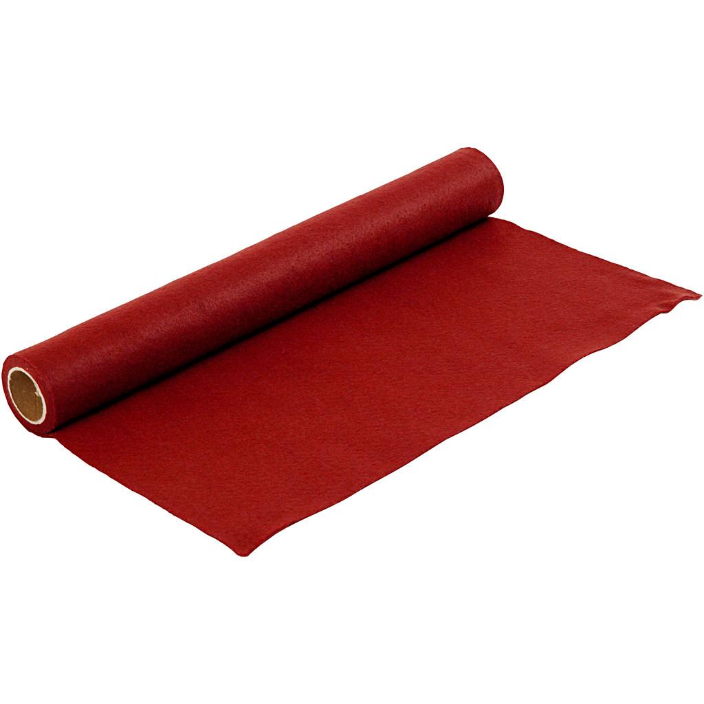 Hobbyfil gammel rød bredde 45 cm tykkelse 1,5 mm - 1 meter