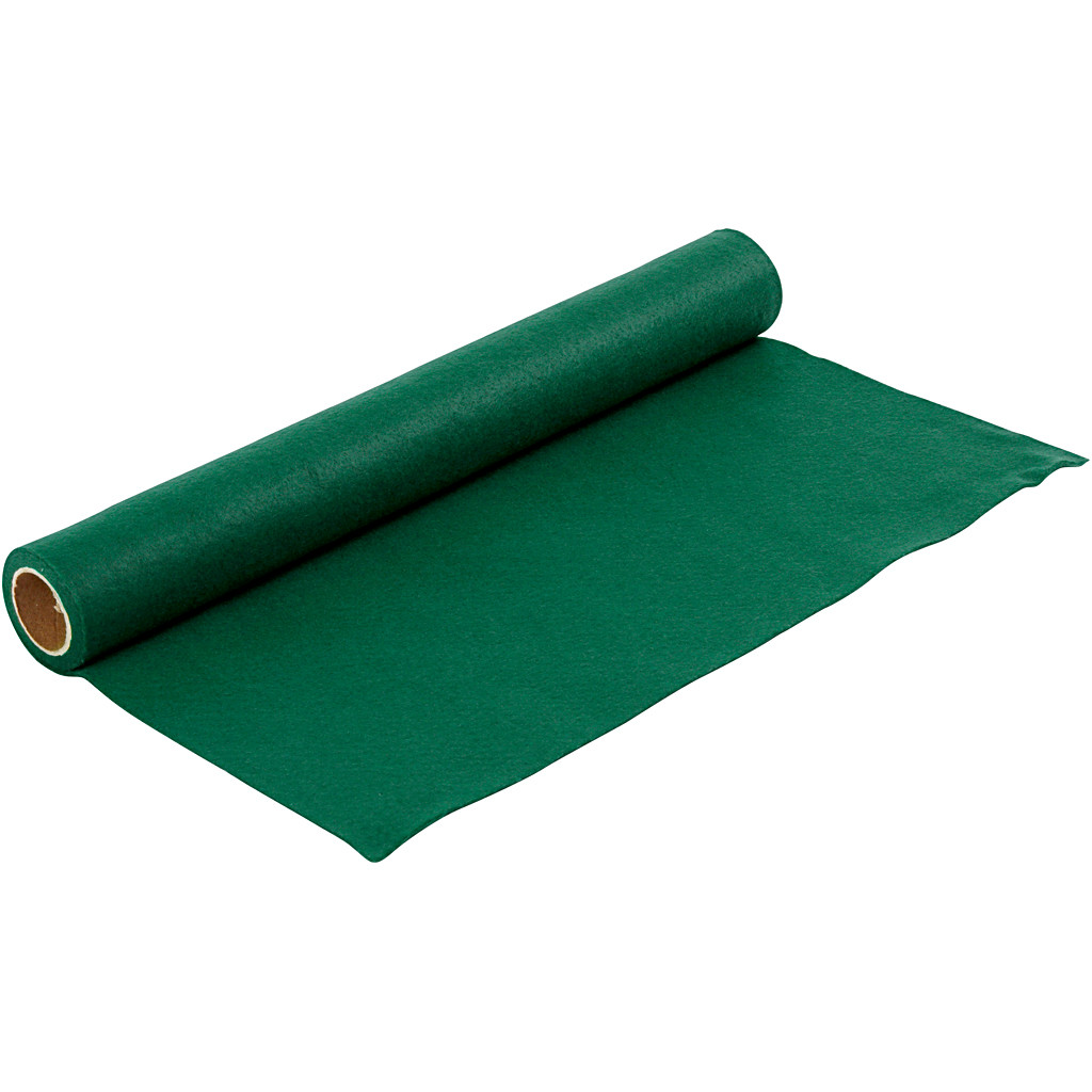 Hobbyfilt bredde 45 cm tykkelse 1,5 mm   grøn 1 meter