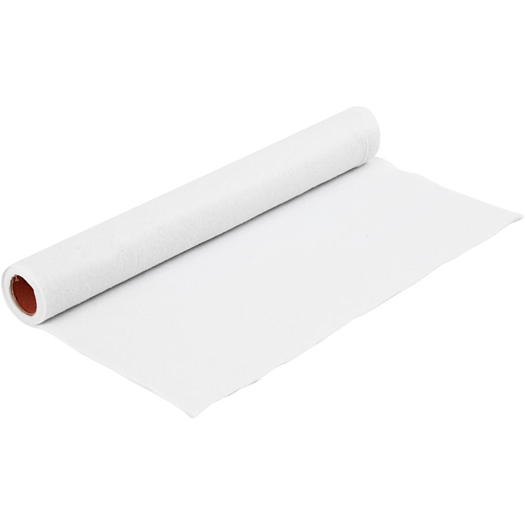 Hobbyfilt - Bredde 45 cm - Tykkelse 1,5 mm - Hvid - 1 m