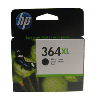 HP No364 XL black ink cartridge, blistered