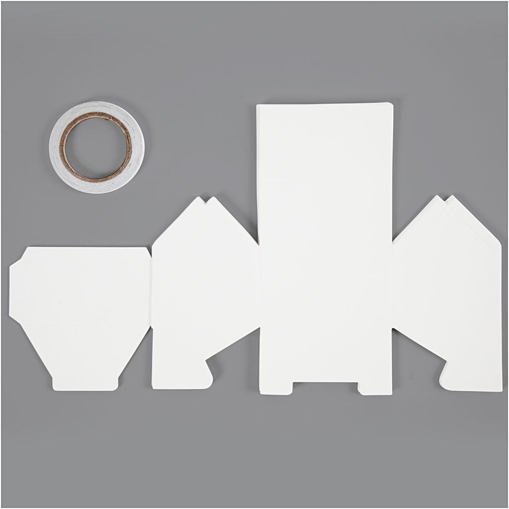 Hus En-families-hus størrelse 8 x 6,5 x 7,5 cm 230 gram hvid 230 gram   8 stk.