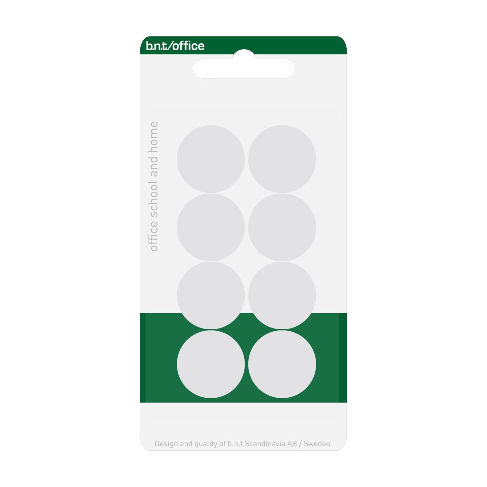 Hvide magneter - BNT runde Ø 2 cm - 8 stk.