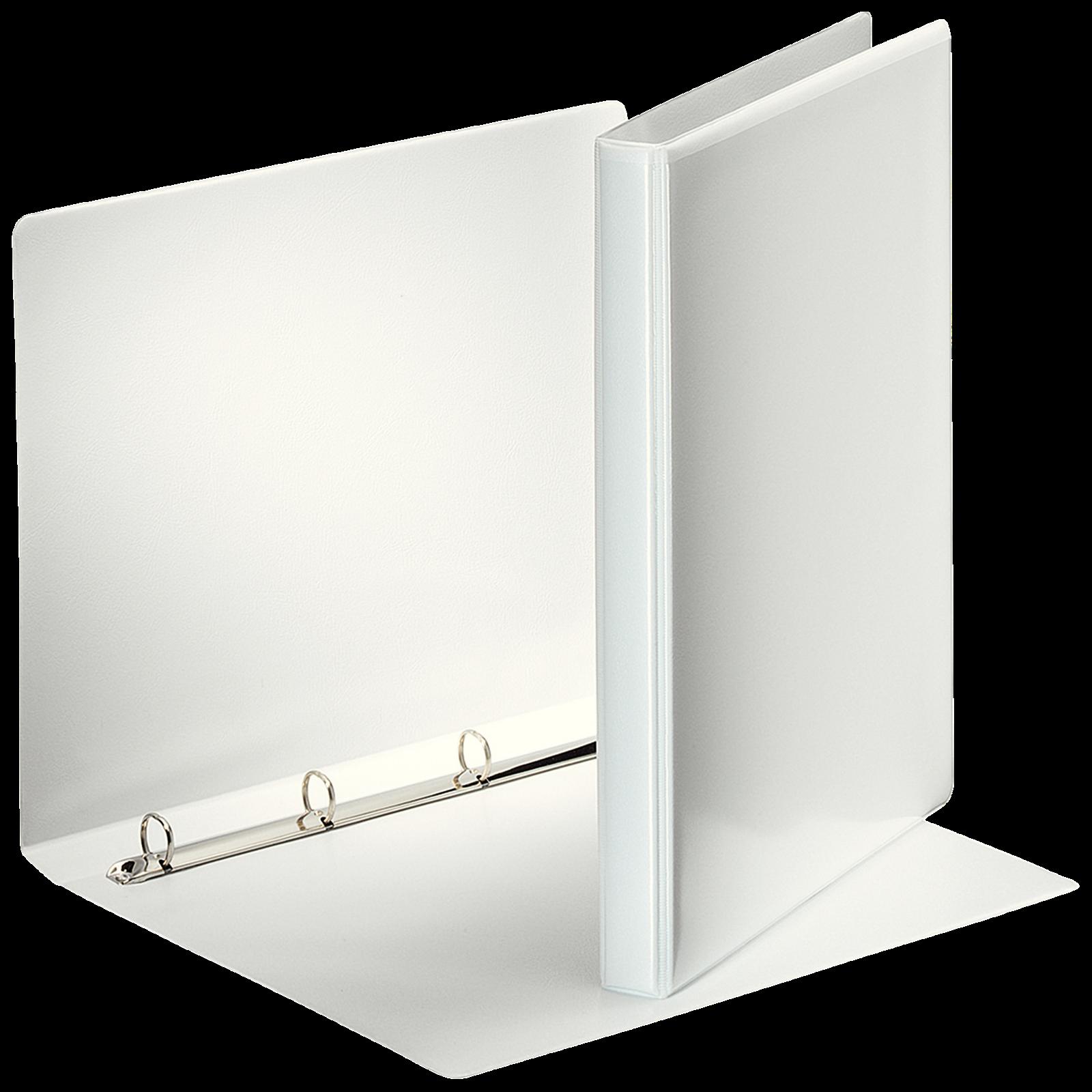 Esselte 49700 Indstiksmappe A4 - Hvid med 4 ringe og 30 mm ryg