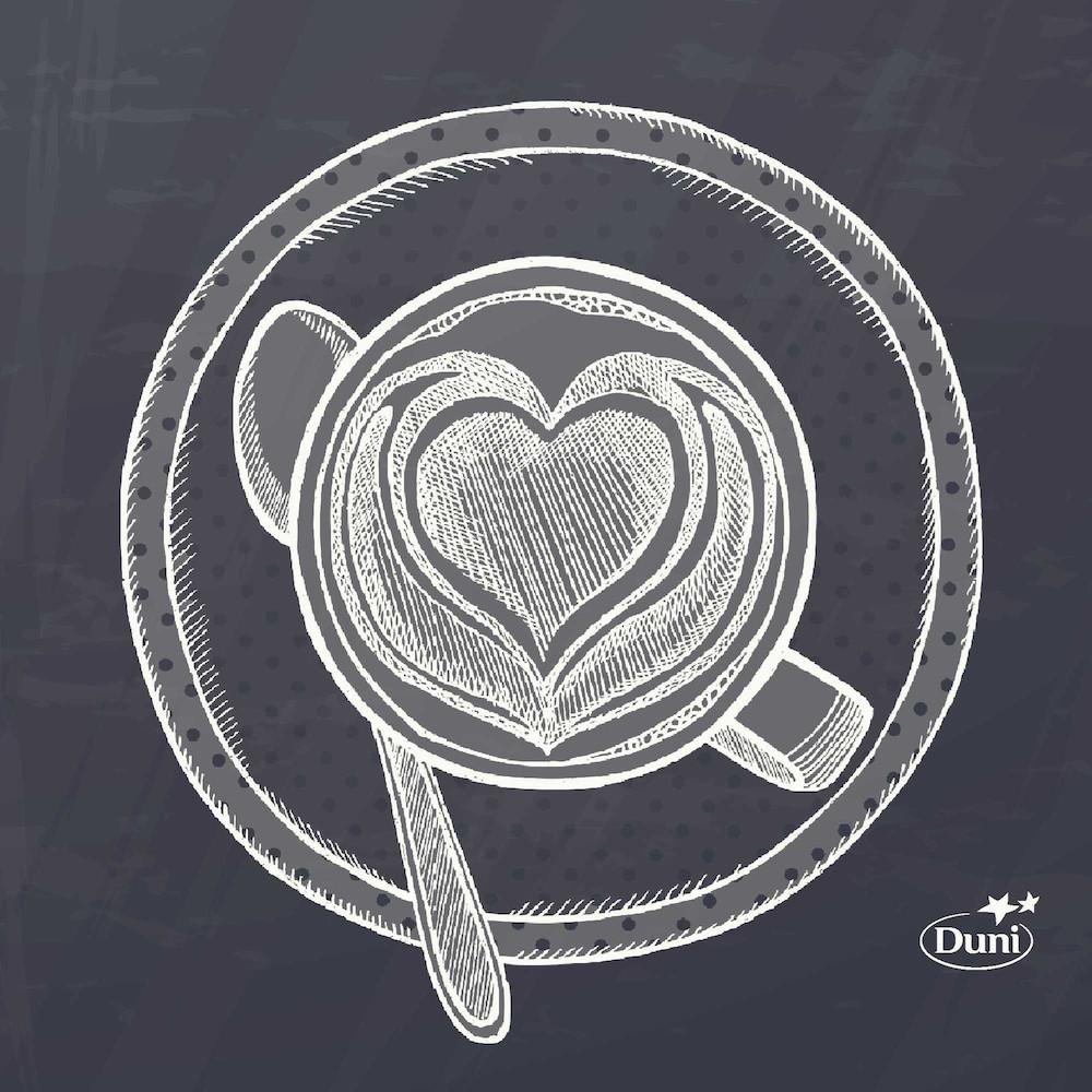 Kaffeserviet, Dunisoft Bakery, 1/4 fold, 20x20cm, sort *Denne vare tages ikke retur*