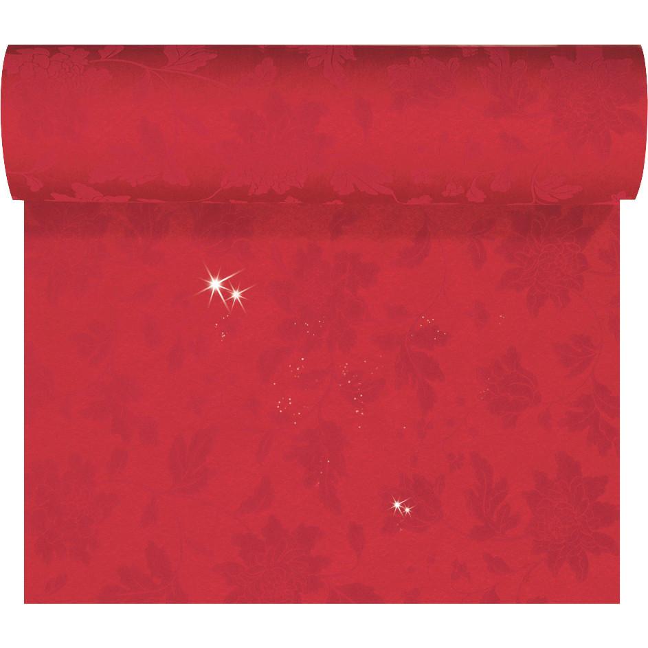 Kuvertløber Dunicel 45 cm x 24 meter Brilliance rød perforeret - 4 stk
