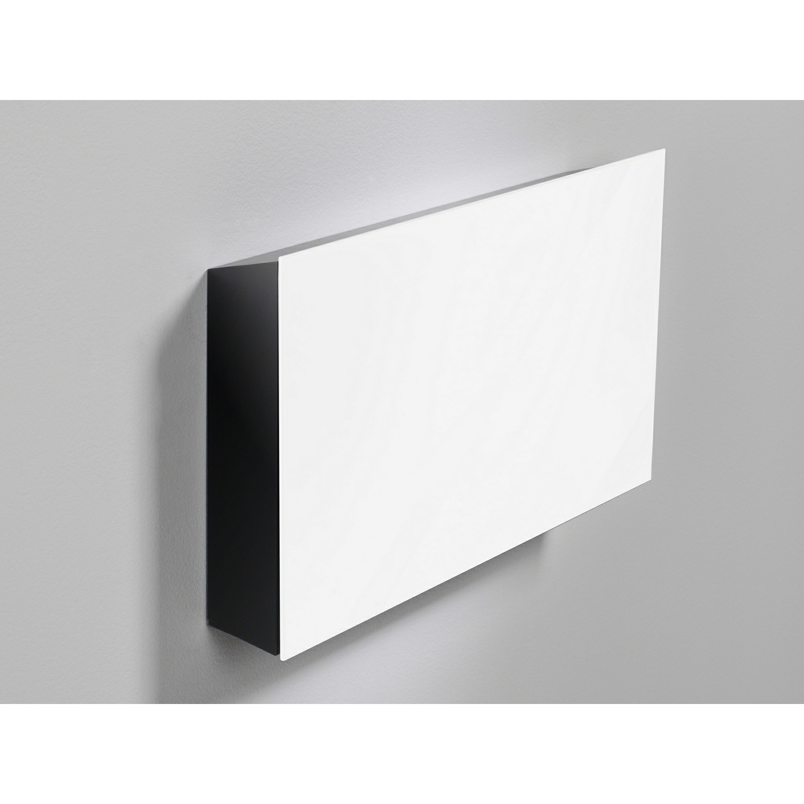 Lintex M Box, sort alukorpus m/hvid glasfront, 410x220x66mm