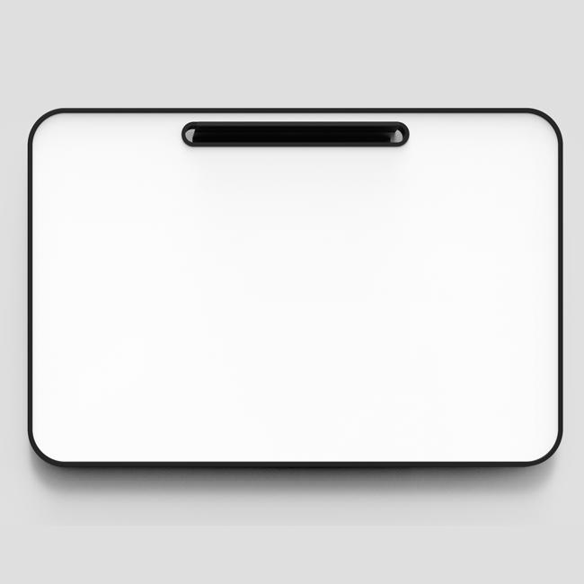 Lintex Note Whiteboard - 120 x 80 cm med sort gummiramme