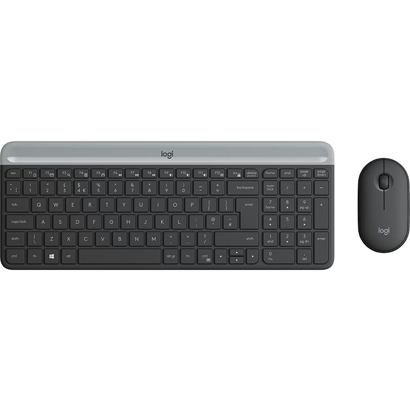 Logitech MK470 Slim Wireless Desktop Set, Graphite (Nordic)