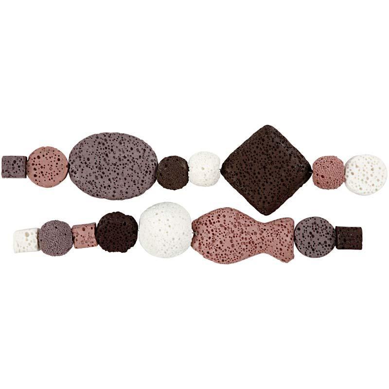 Luksus Perleharmoni, dia. 6-37 mm, hulstr. 2 mm, gl. rosa harmoni, 1sæt