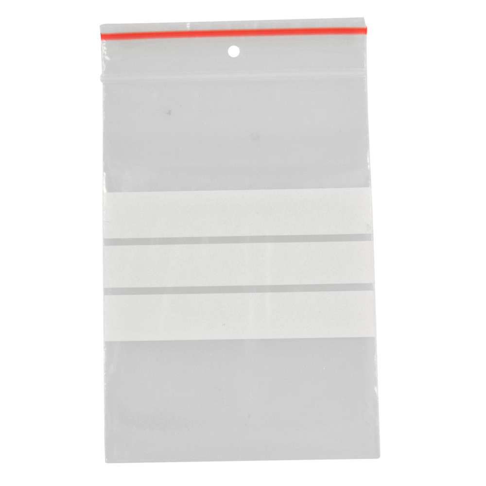 Lynlåspose, Easy-Grip, med skrivefelt, i displayboks, LDPE, transparent, 50 my, 7x10 cm,