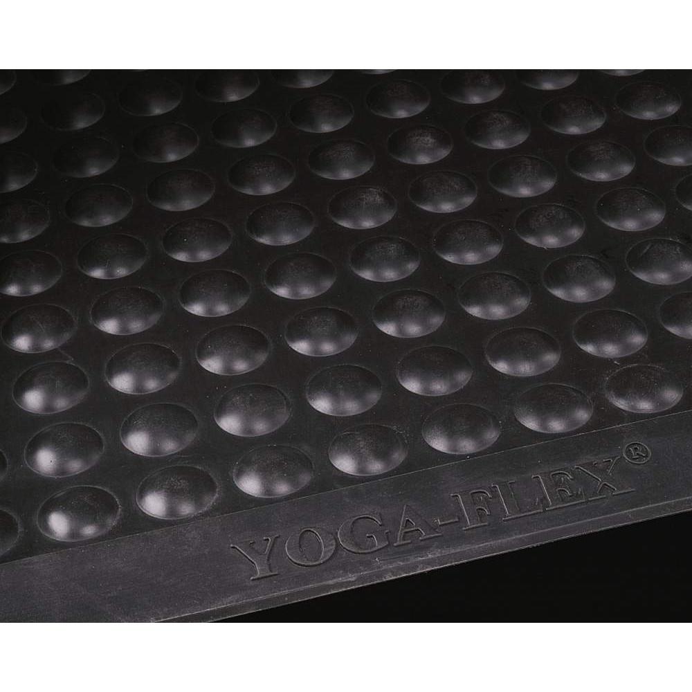 Yoga Flex Arbejdspladsmåtte i sort naturgummi - 60 x 90 cm