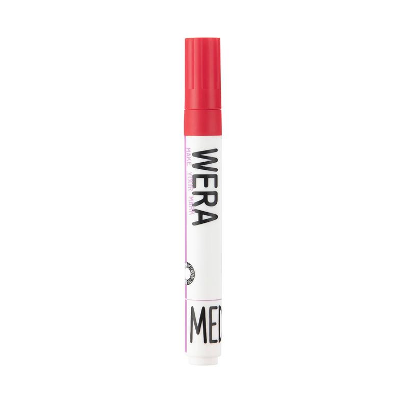 Marker WERA permanent rød kantet spids 1-6mm