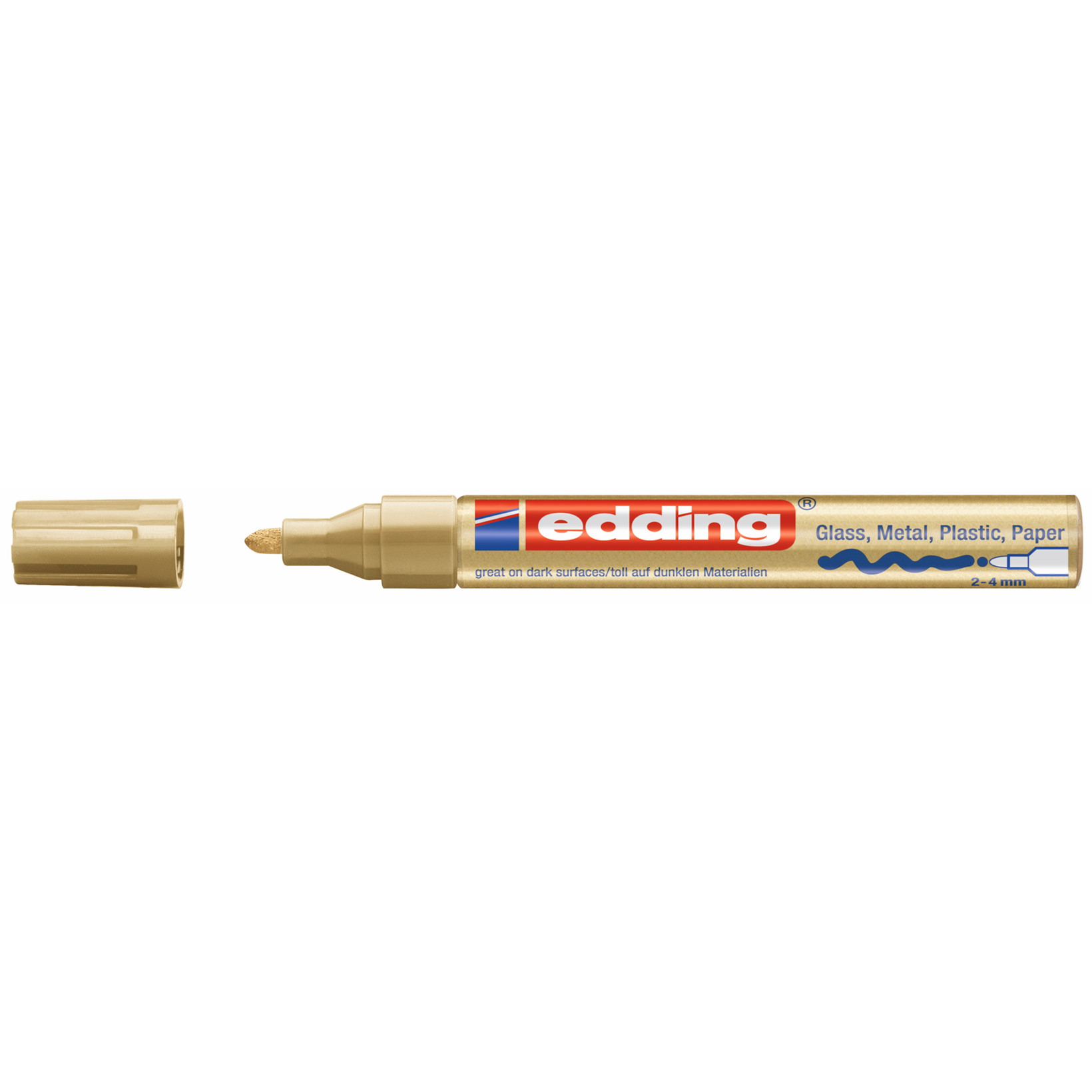 Edding 750 Paint Marker - Guld farve 2-4 mm streg