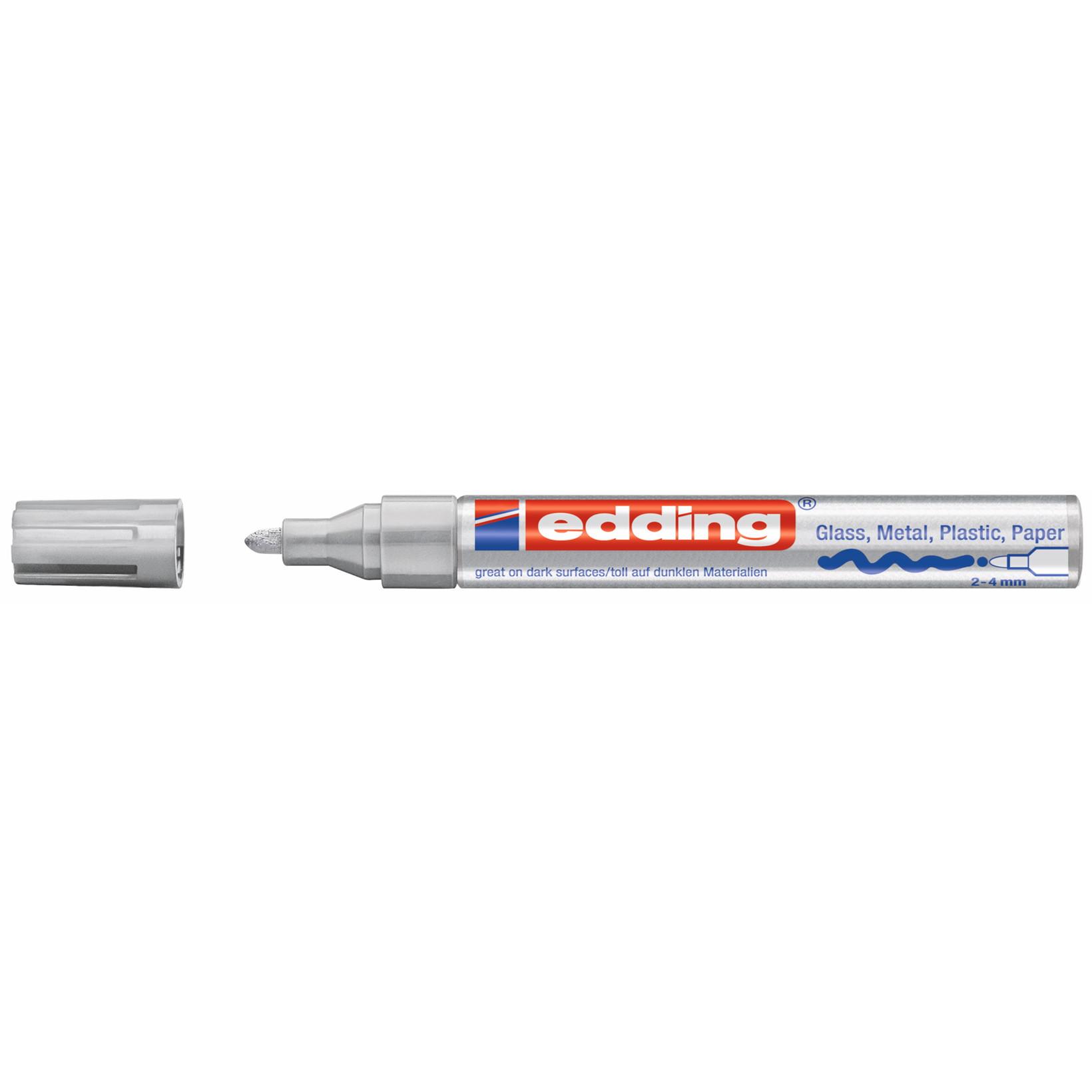 Edding 750 permanent marker - Hvid 2 - 4 mm rund spids