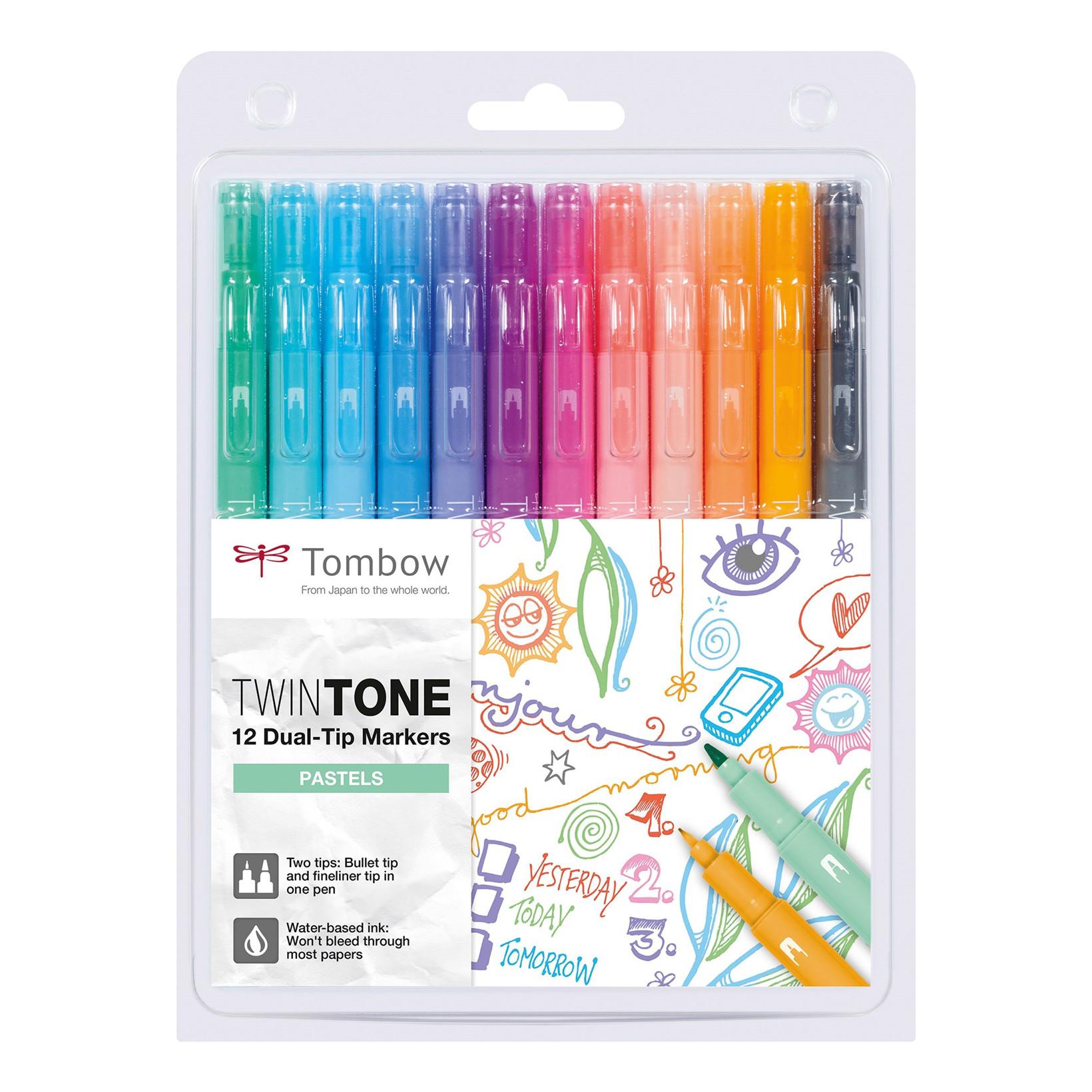 Marker Tombow TwinTone pastel 0.3/0.8 (12)