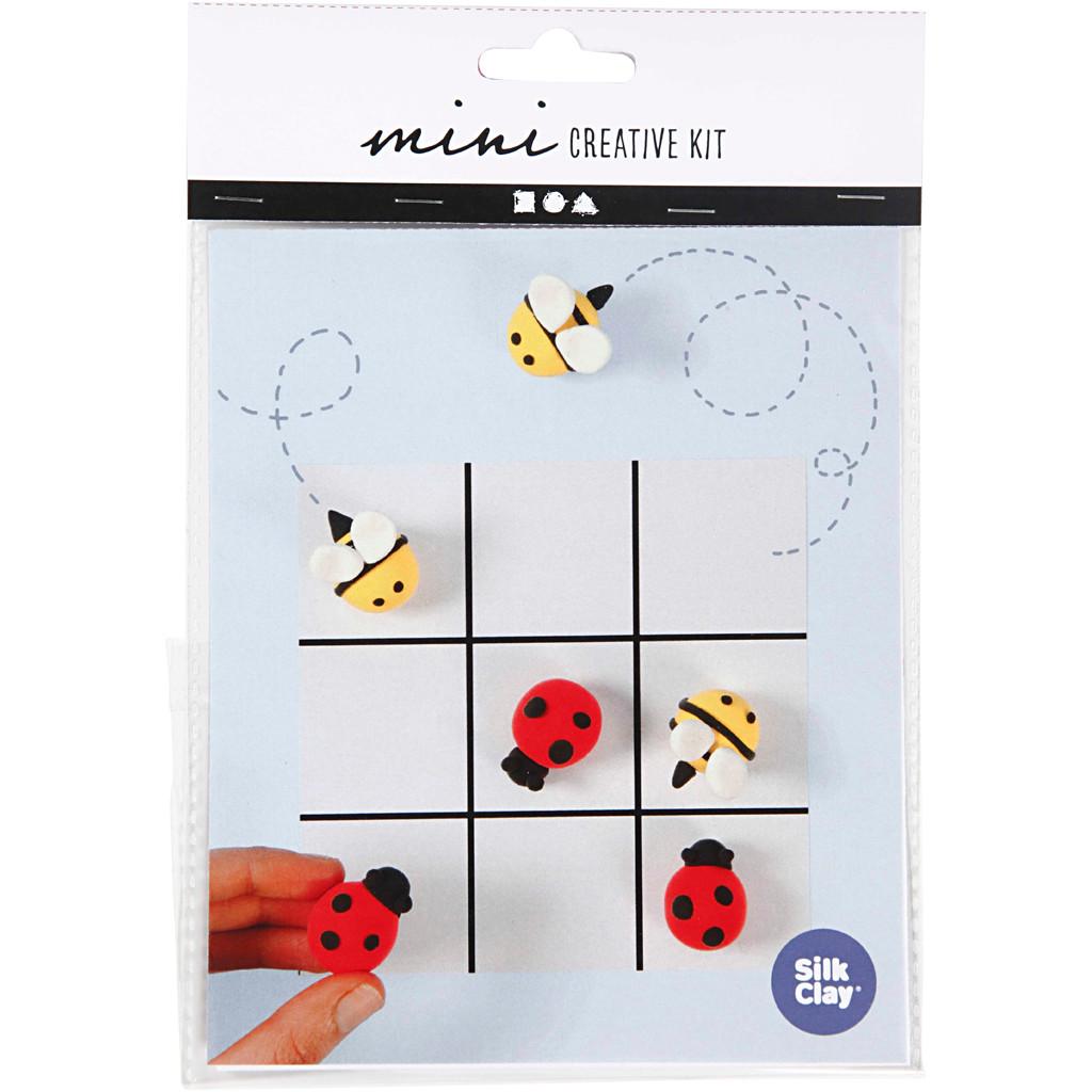 Mini kreative sæt, modellering - kryds og bolle spil, 1sæt