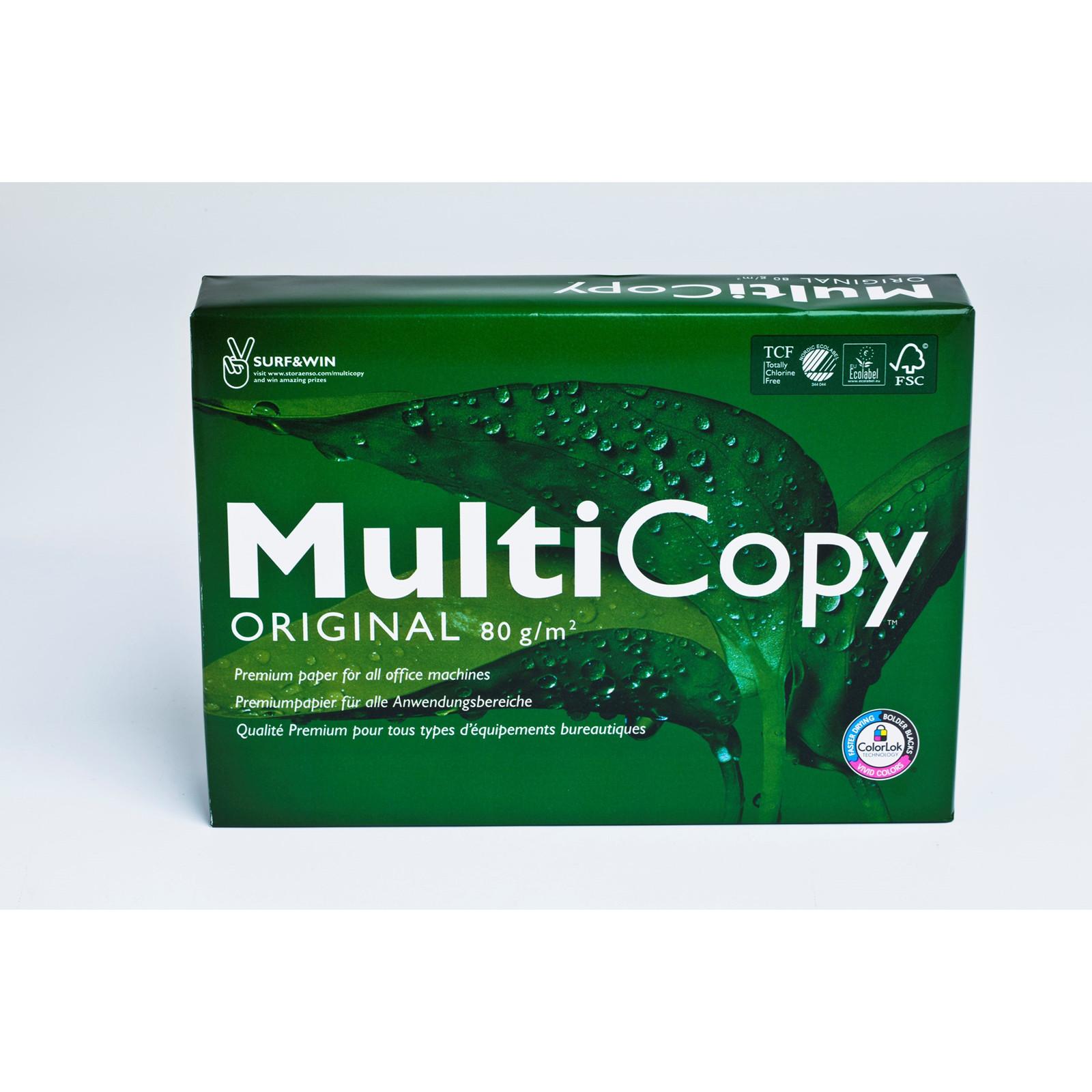 Kopipapir A4 Multicopy 80 gram - 500 ark papir