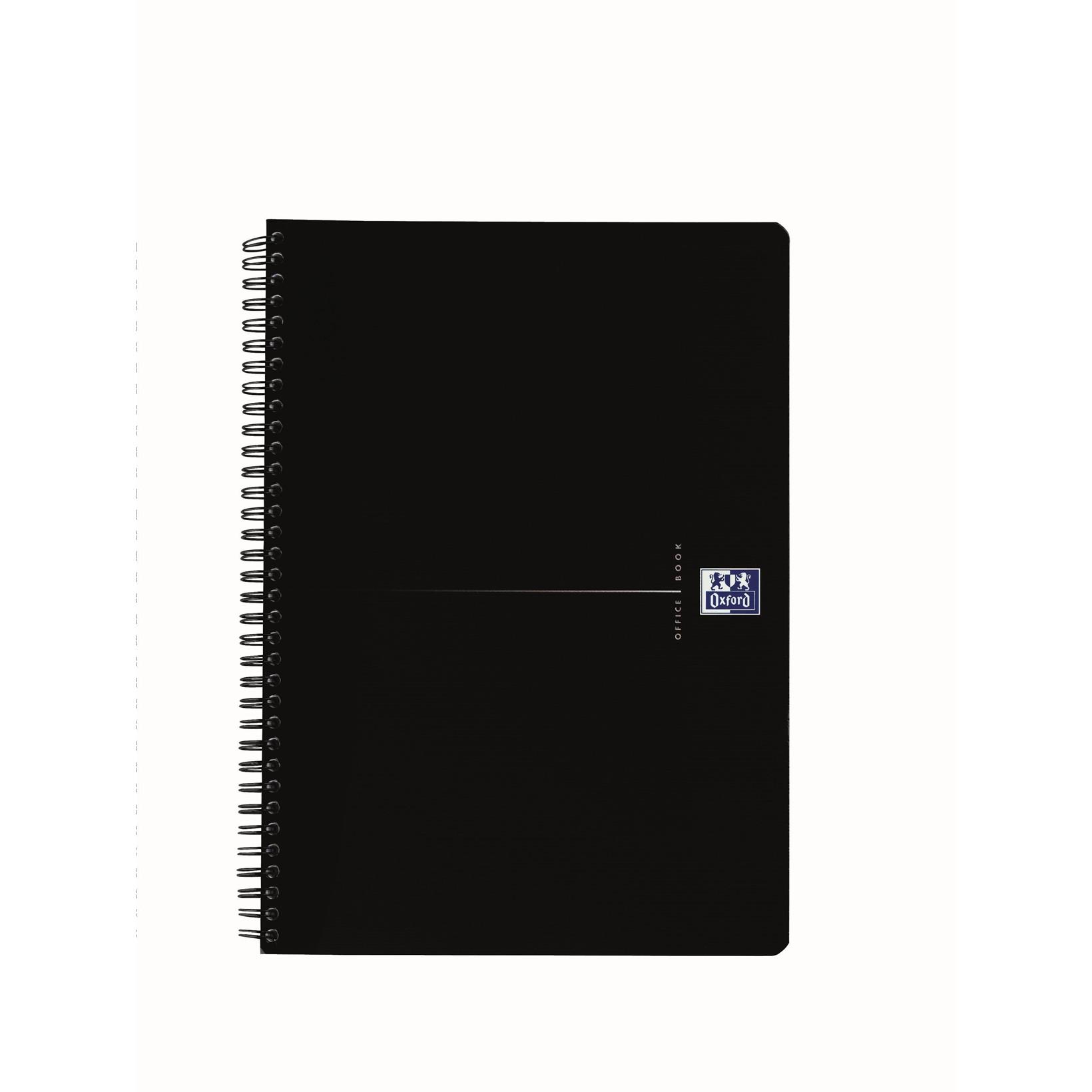 Oxford Notesbog Office Smart A4 - Sort omslag 90g linjeret papir - 90 sider
