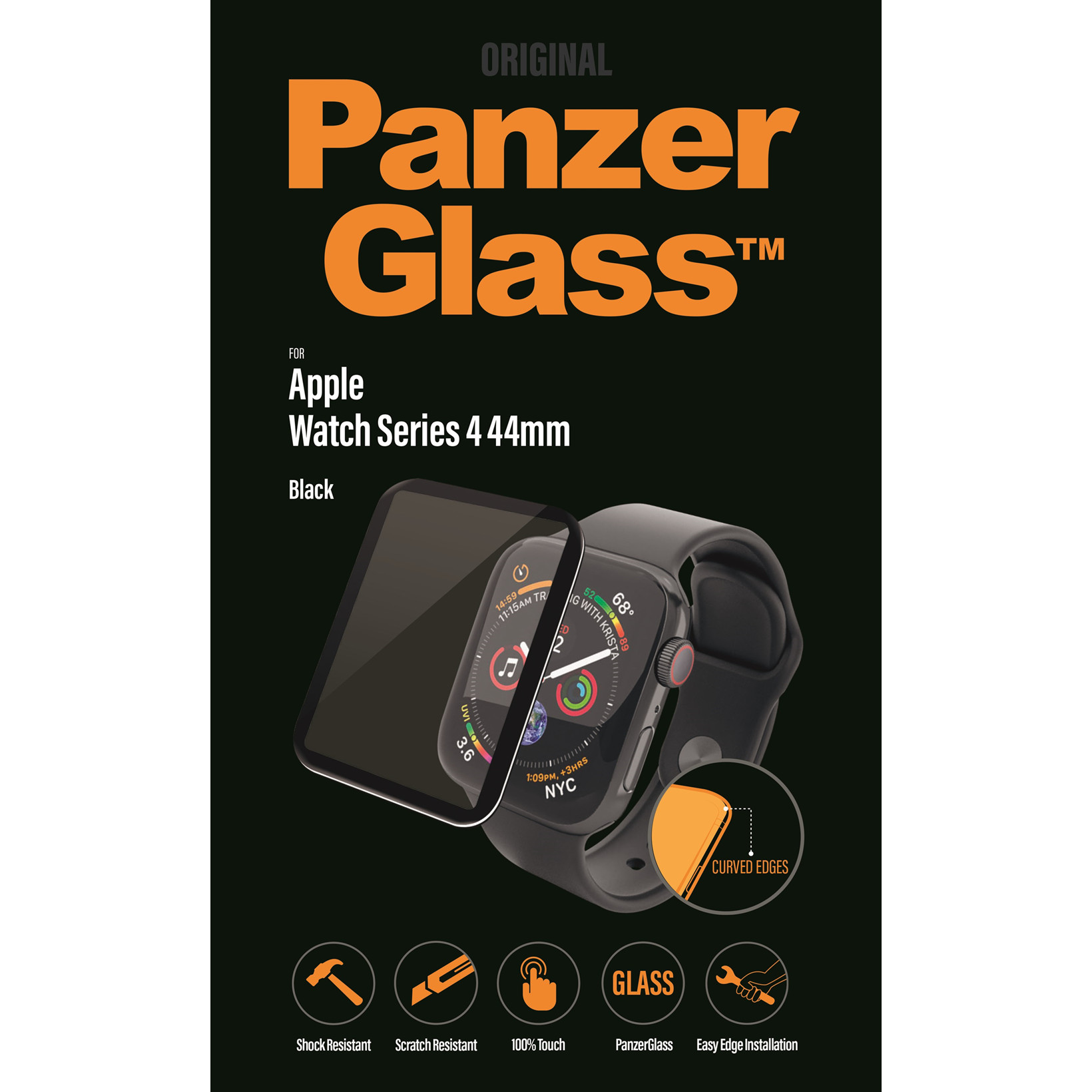 PanzerGlass Apple Watch Series 4, Black (44mm)
