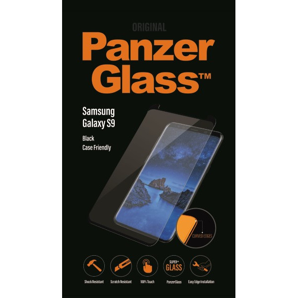 PanzerGlass Samsung Galaxy S9, Black (CaseFriendly)