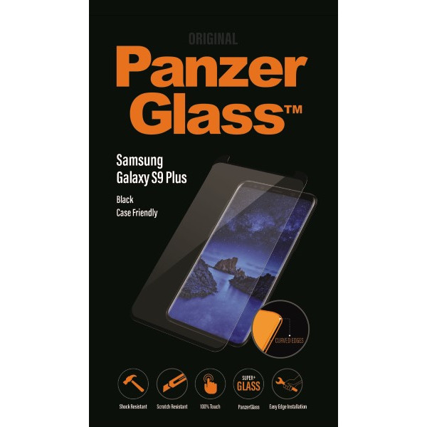 PanzerGlass Samsung Galaxy S9 Plus, Black (CaseFriendly)