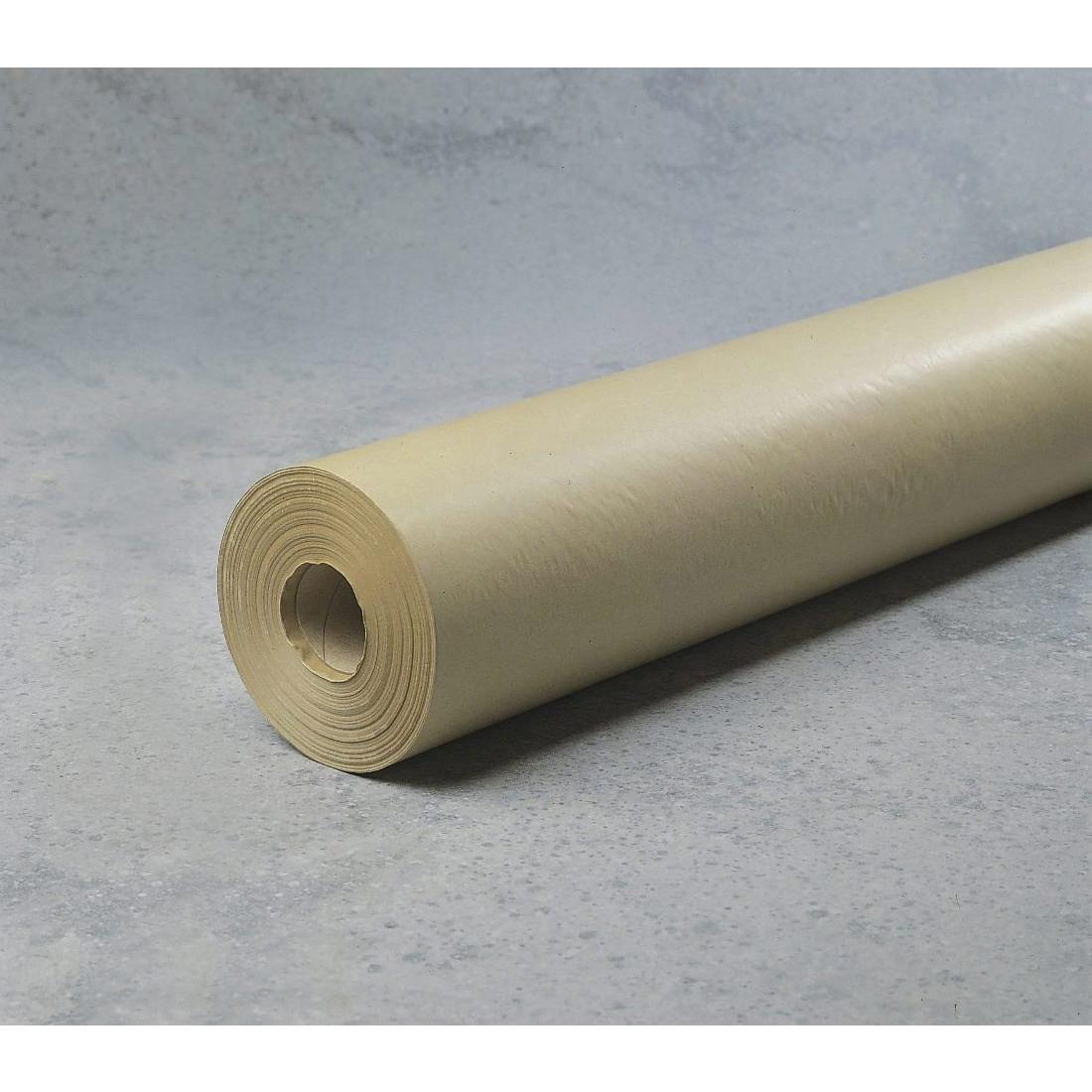 Kraftpapir - i brunt 70 cm x 200 m x 50 g med paprør