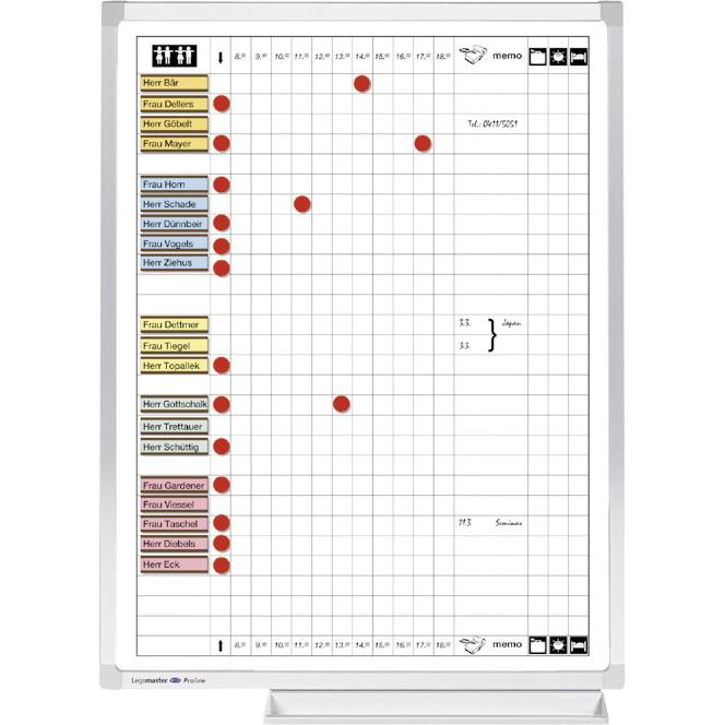 Planlægningstavle - Komme og gå Legamaster 60 x 45 cm