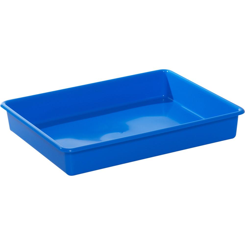 Plastbakke, Tina Trolleys, blå, L51 cm x B40 cm x H9 cm,