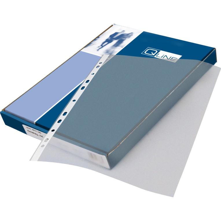 Plastlomme 0,09mm A4 med præg 100stk/pak Q-line