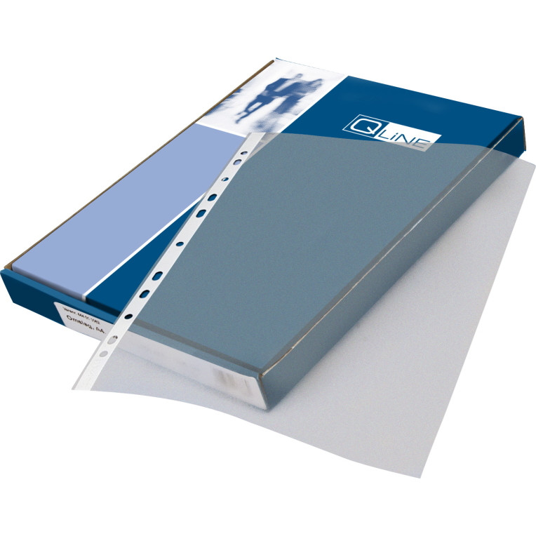 Plastlomme 0,11mm A4 glasklar 100stk/pak Q-line