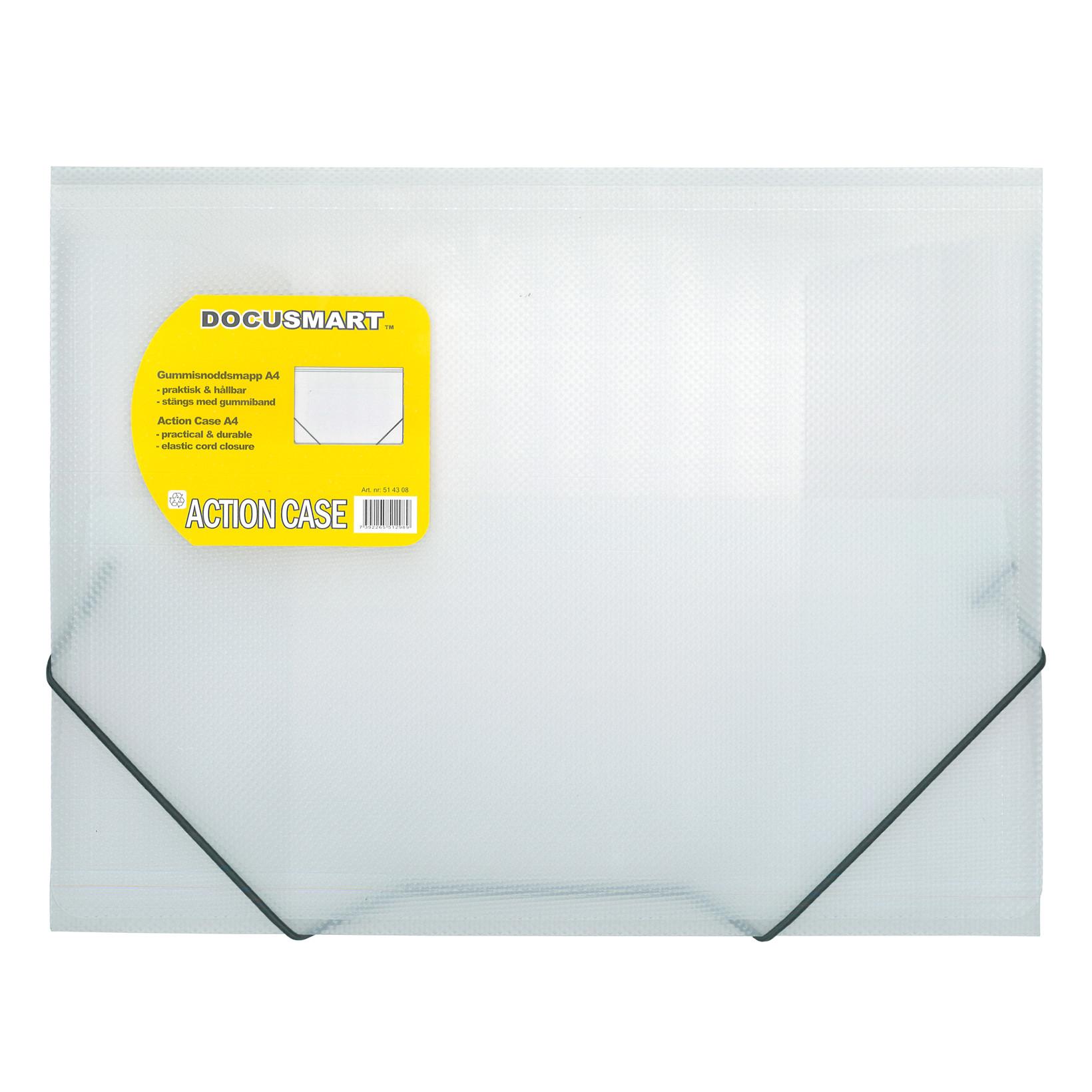 A4 mappe i plast BNT med 3 klapper Dokusmart - klar