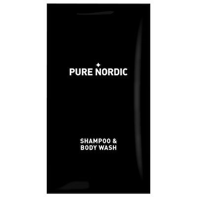 Pure Nordic, Shampoo og body wash, 12 ml,