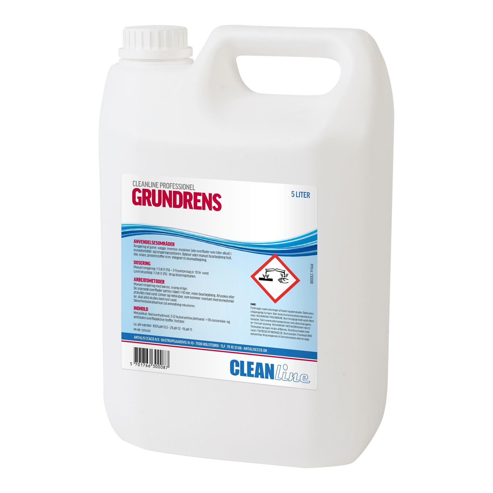 Cleanline Grundrens - Grundrengøringsmiddel - 5 liter