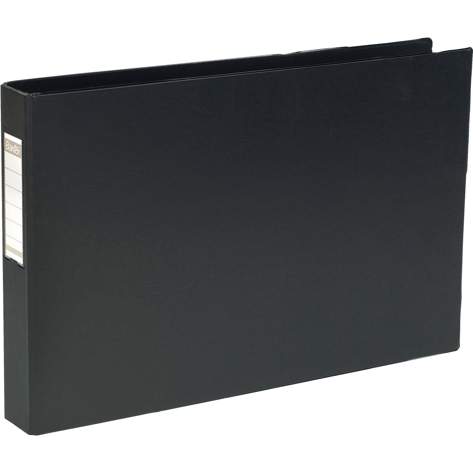 A3 Ringbind sort tværformat med 4 ringe og 55 mm ryg - ELBA 400000113