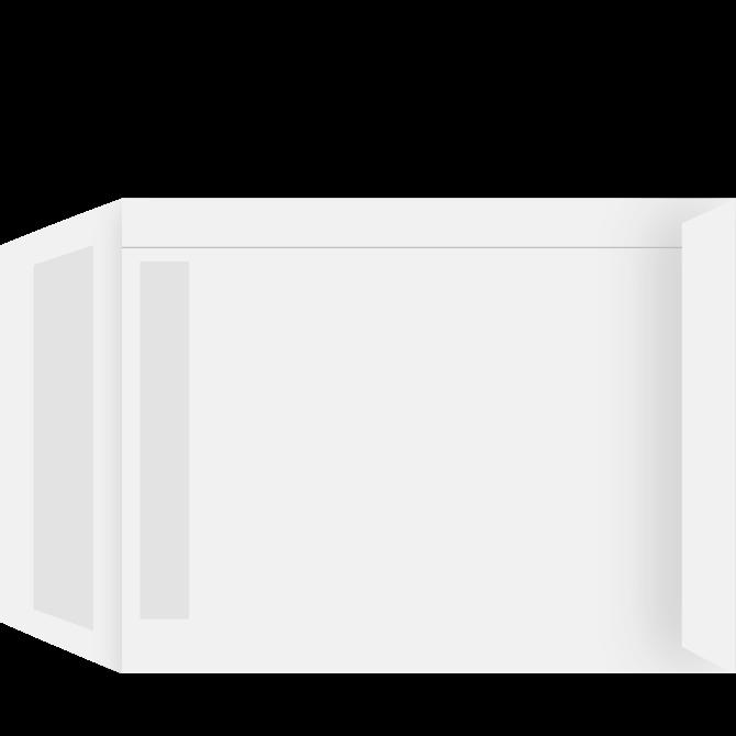 Rudekuvert - S4P hvid 229 x 312 mm 3742-13742 - 500 stk