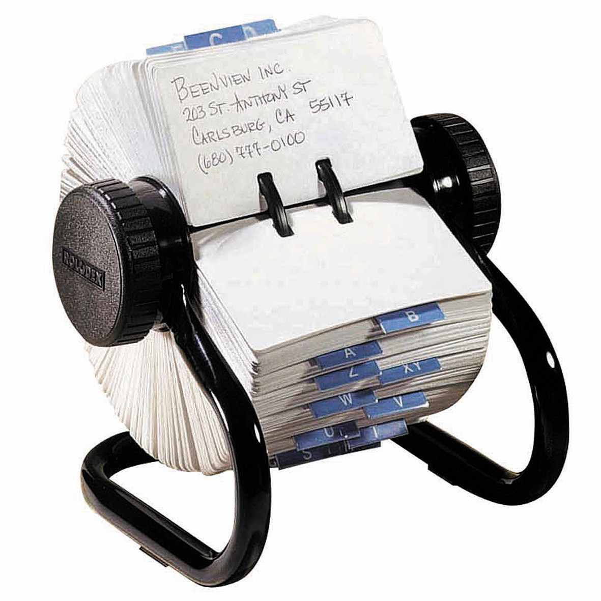 Rullekartotek t/500 kort 57x102 mm Rolodex sort