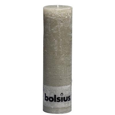 Rustik bloklys, Bolsius, 65 timer, lysebrun, 19 cm