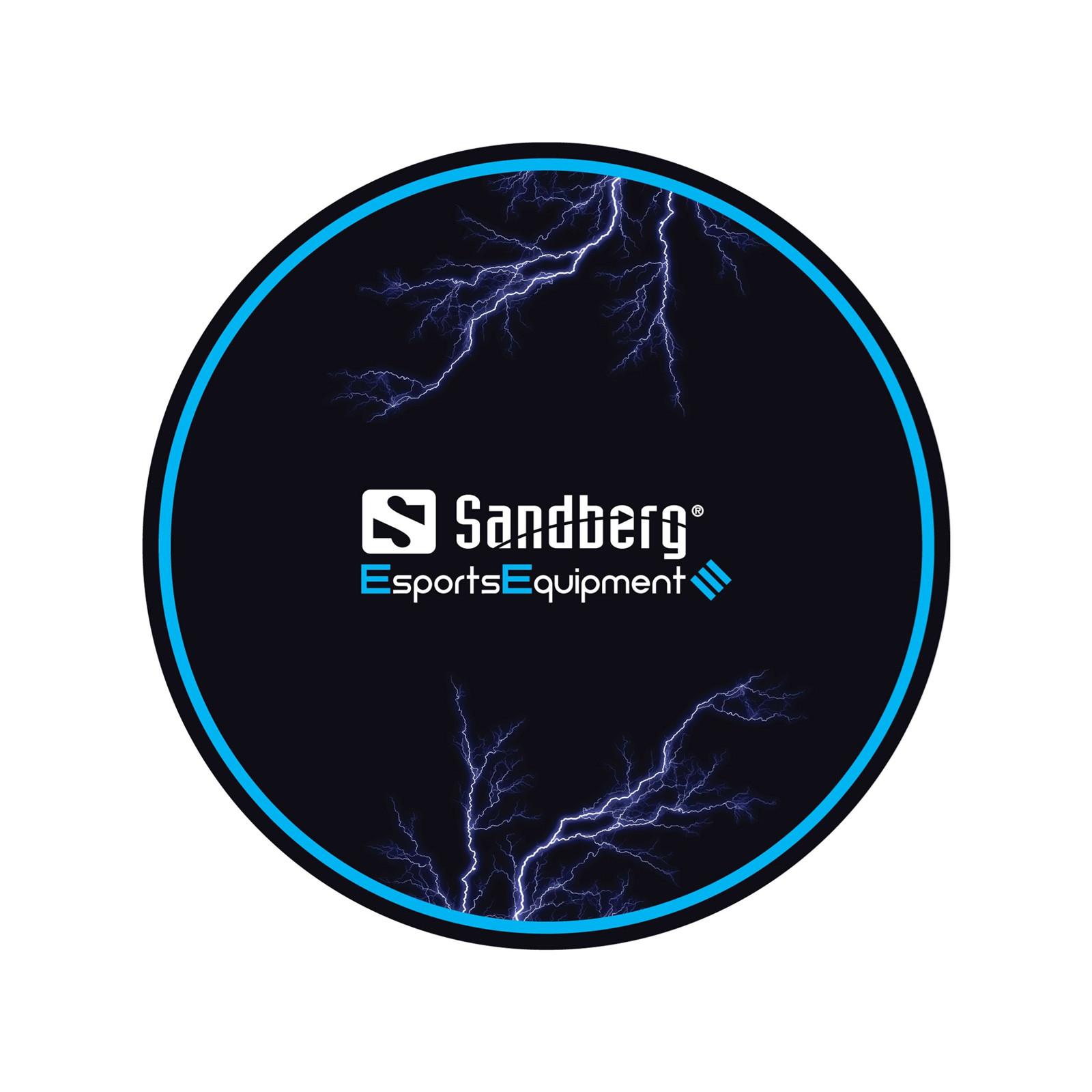 Sandberg Gaming Chair Floor Mat, Black